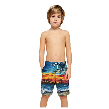 Spodenki plażowe dla chłopców spodenki plażowe dla dzieci szybkie suche stroje kąpielowe dla dzieci 3D drukuj stroje kąpielowe dla rodziców i dzieci spodenki plażowe stroje plażowe tanie i dobre opinie ARLONEET Poliester Pasuje prawda na wymiar weź swój normalny rozmiar Chłopcy Na co dzień Sznurek Luźne Children Short Trouser