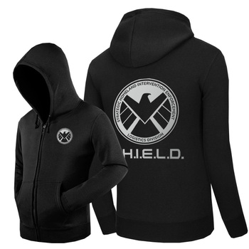 Hot Agents of Shield Hoodies Hoody Sweatshirts Outerwear Unisex Cotton Zipper Coat Marval