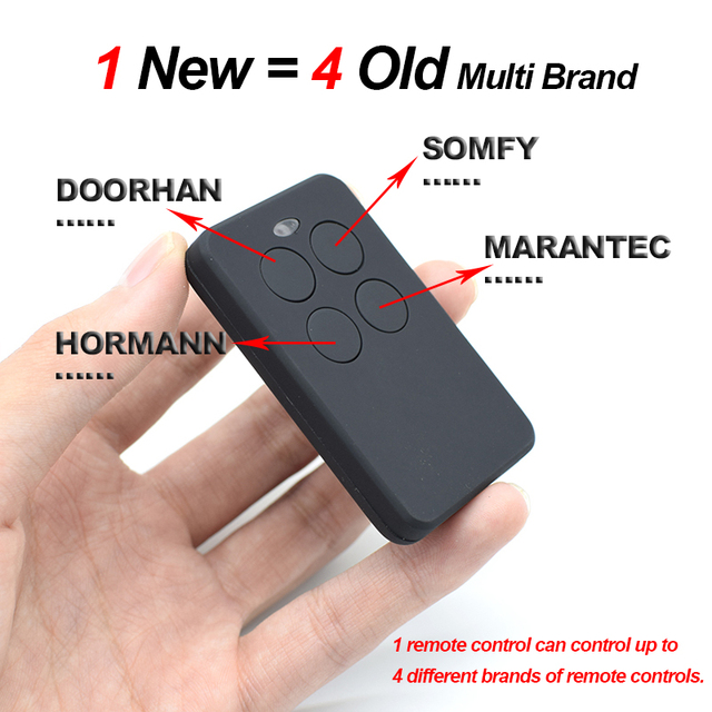 ALLMATIC B.RO 1/2/4WN Red Replacement 433.92MHz Remote Control Garage Door Opener ALLMATIC MX1 MX2 or MX4 Gate Control Key Fob
