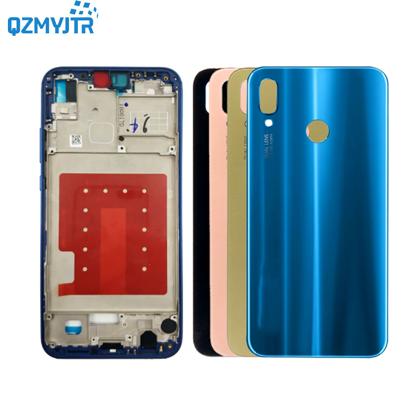Replacement For <font><b>Huawei</b></font> <font><b>p20</b></font> lite/nova 3E Middle Frame front lcd Housing <font><b>Cover</b></font> Bezel Plate Chassis+<font><b>Battery</b></font> Back <font><b>cover</b></font> With Tools image