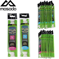 Mosodo 10Pcs/Lot PVA Mesh 5M 25mm 37mm Carp Fishing Feeder Trap Bait Bag Nets Soluble In Water To Beat The Nest