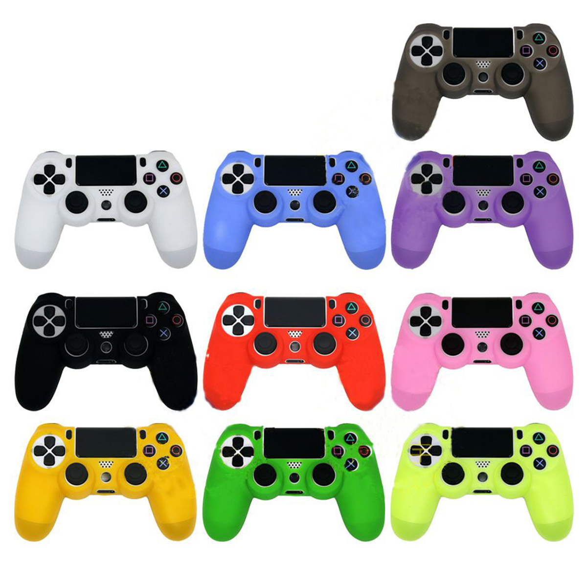 For PS4 Sony Playstation 4 Slim Controller Case Silicone Soft Flexible Gel Rubber Shell Cover Video Game Controller Accessory