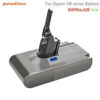 Batteria Powtree 6000mAh 21.6V V8 per batterie Dyson V8 batteria ricaricabile per aspirapolvere SV10 agli ioni di litio V8 assoluto