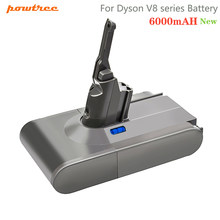 Powtree – batterie Rechargeable pour aspirateur Dyson V8, 6000mAh, 21.6V, Li-ion, absolu V8, Animal SV10