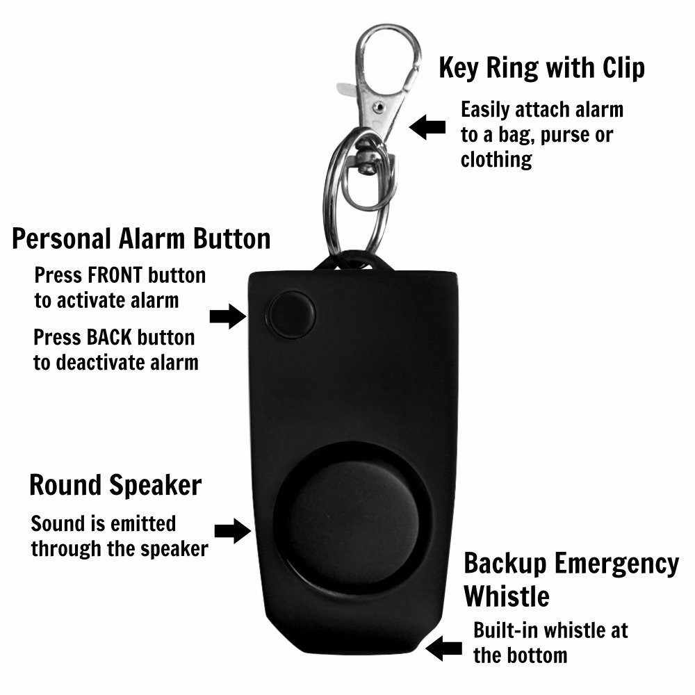 Extreme Loud 130Db Alert Keychain Safety Personal Security for Women Children 2pcs Anti-Rape Self Defense Device Alarm Personal Alarms for Women