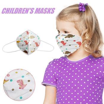 KN95 Children High-Density Face Mask PM2.5 Wind Mist Protection Filter Kids Outdoor Dustproof respirator Cover masks Masker#0814