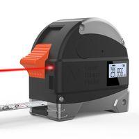 2 em 1 30m laser rangefinder lcd digital fita medida medidor de distância medidor medidor de alcance infravermelho ferramenta de medição de construção