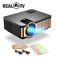 Real TV W5 HD Mini Proyector 4000 lúmenes HDMI USB VGA AV soporte 1080p portátil de cine Proyector Beamer