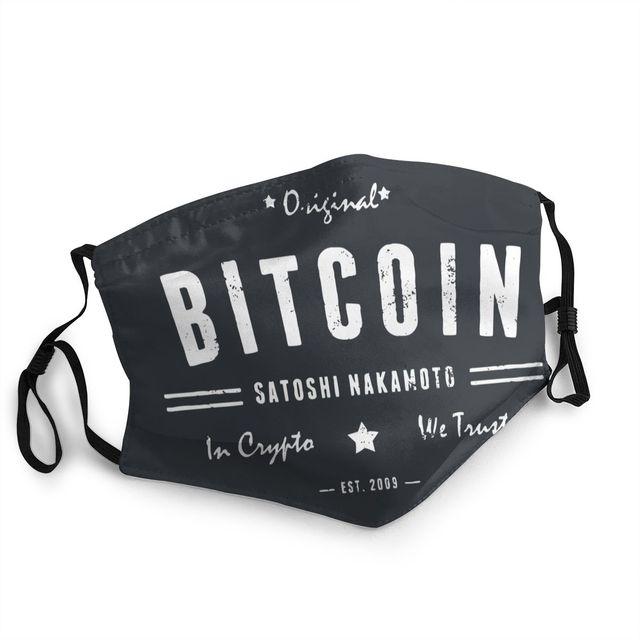 Bitcoin Original Satoshi Crypto Non-Disposable Face Mask 1