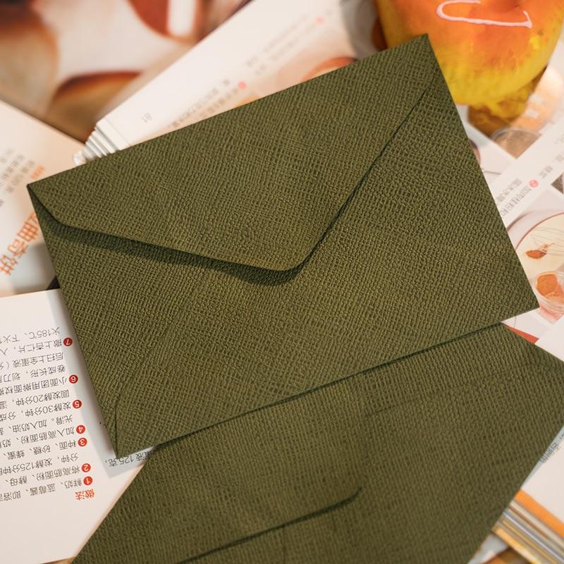 New 50pcs/pack C6 Retro Hemp Texture Western Envelopes For Wedding Party Invitation Greeting Cards Gift Envelopes Customized