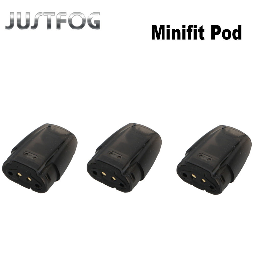 3pcs/lot JUSTFOG MINIFIT Vape Pod Cartridge 1.5ml Tank 1.6ohm Electronic Cigarette Atomizer For MINIFIT Kit VS JUSTFOG Q16 Kit