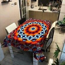 Geometric Plaid Tablecloth Dinner Rectangular Round Burma Thai Printing Tablecloths Home Kitchen Decor Stripe Table Cloth Covers