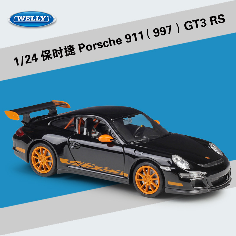 Welly 1:24 Porsche GT3 RS 997 Alloy Car Model Diecasts Toy Vehicles Collect Gifts Non-remote Control Type Transport Toy