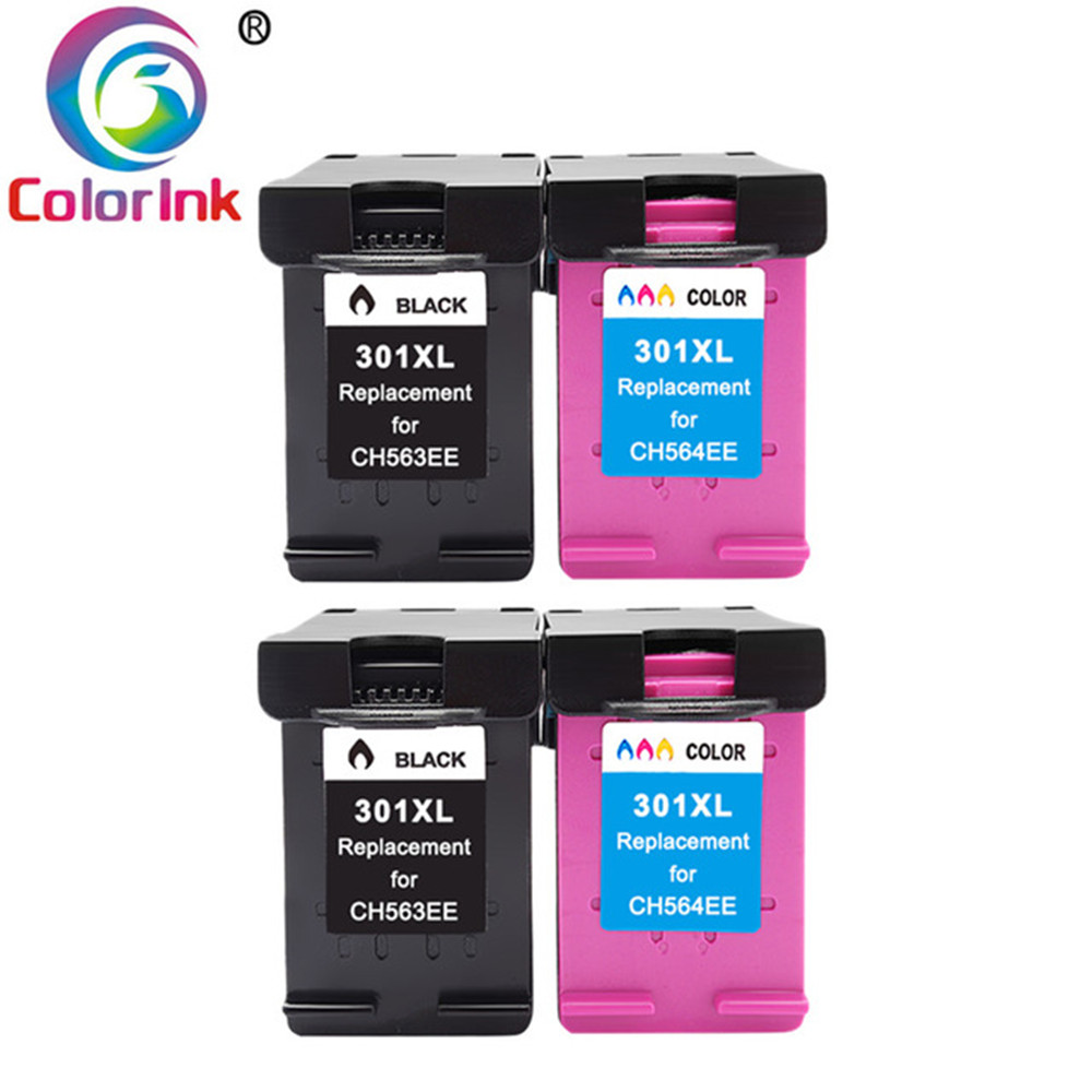 ColoInk 301XL Ink Cartridges Replacement For HP 301 XL Compatible For HP Deskjet  1000 1050A 1510 2050 2540 Printer