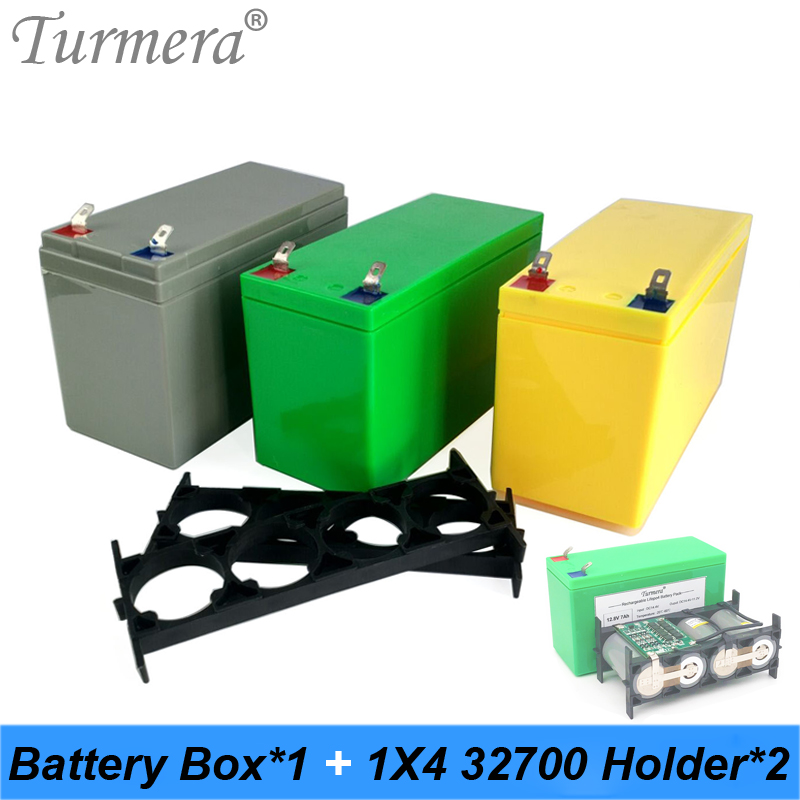 Turmera 32650 32700 Lifepo4 Battery Storage Box With 1x4 Bracket For 12V Uninterrupted Power Supply And E-bike Battery Use