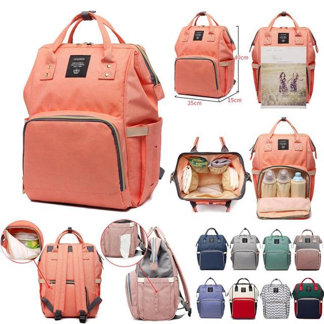여성 배낭 여성 대형 기저귀 배낭 멀티 포켓 다기능 엄마 배낭 여행 가방 엄마 기저귀 가방 SD 067
