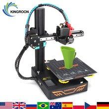Kingroon diy impressora 3d kp3s atualizado alta precisão 3d 180 printer 180 180 printer printer * * mm rígida quadro de metal drukarka impressora de tela sensível ao toque