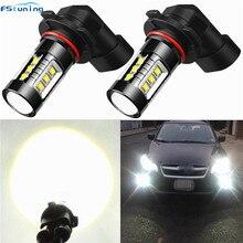 цена на 12V 24V 80W Led DRL H8 H9 H11 9006 9006 H4 H7 1156 Car Led Lighting Daytime Running Driving Light H4 H7 Fog Lamp Bulb