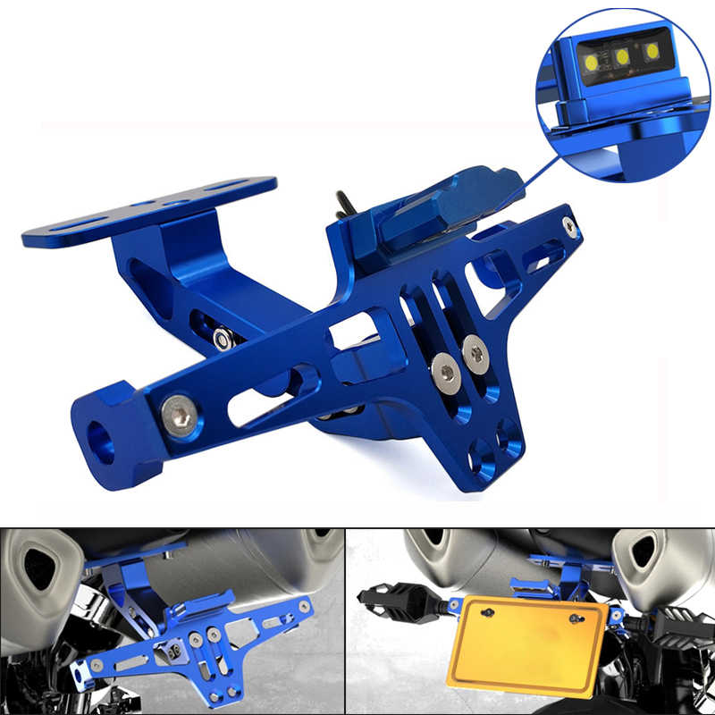 אופנוע מתכוונן זווית לוחית רישוי מחזיק סוגר CNC אלומיניום עבור ימאהה SEROW 225 250 TTR 125 250 600 XT250 TRICKER
