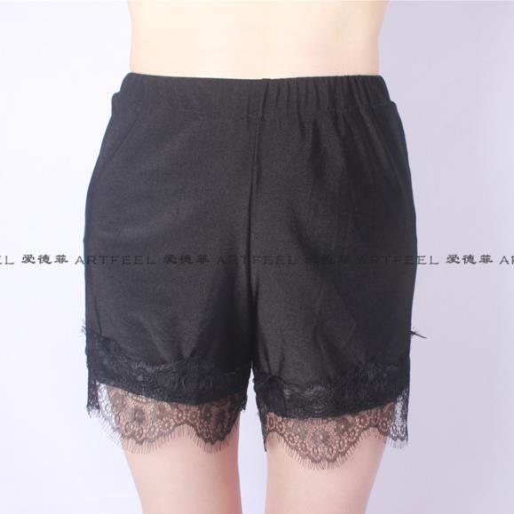 BOho Women Shorts 2020 Summer Autumn Women Shorts Plus Size 3XL 4XL 5XL Sexy Lace Patchwork Skinny Black Femme Shorts M421