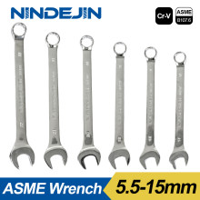 NINDEJIN open end wrench tool 5.5 6 7 8 9 10 11 12 13 14 15mm combination wrench hex spanner wrench for hex nuts