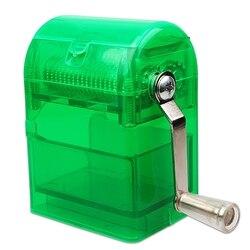 Ręcznie łukowaty maszynka do mielenia maszynka do skręcania papierosów Chicha młynek do ziół metalu z tworzywa sztucznego młynki do palenia tytoniu papieros kruszarki w Akcesoria do papierosów od Dom i ogród na