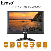 "EYOYO EM12G IPS HDMI CCTV TV Monitor 12"" FHD 1080P LCD Screen With VGA BNC AV USB Moniteur Pantalla For PC DVR Security Camera(China)"