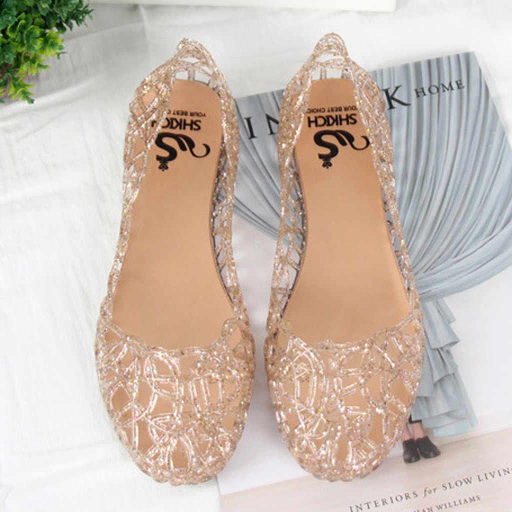 Schoenen vrouw platte zapatos de mujer chaussures femme vrouwen Zomer Strand Jelly Sandalen Slip Op Flats Casual Ademend
