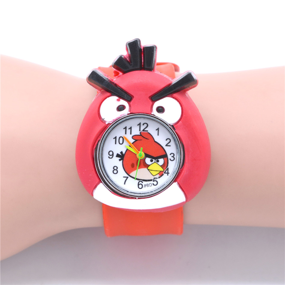Cute Baby Animal Watch Kids Toy Red Silicone Watches For Children Toys Slap Belt Clocks