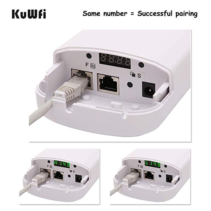 Image 4 - 2PCS 300Mbps Wireless CPE Outdoor 2KM P2P Wireless Bridge Router Wifi Repeater Supports WDS Function No Setting with LED Display-in Wireless Routers from Computer & Office