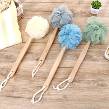 Creative Rub Bath Artifact Bath Flower Long Handle Bath Ball Rub Bath Towel Strong Rub Back Bath Brush Rub Back Ball цена 2017