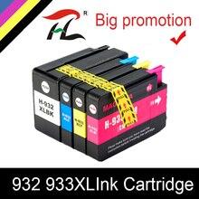 HTL 932XL 933XL Ink Cartridge for hp 932 933 CN053A CN054A CN055A CN056A compatible for HP 6100 6600 6700 7110 7610 7612 7510 original for hp 932xl cn053ae black high capacity ink cartridge