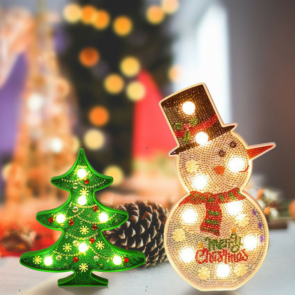5D Christmas Tree LED Night Light Table Lamp Home Party Colorful DIY Decoration _WK