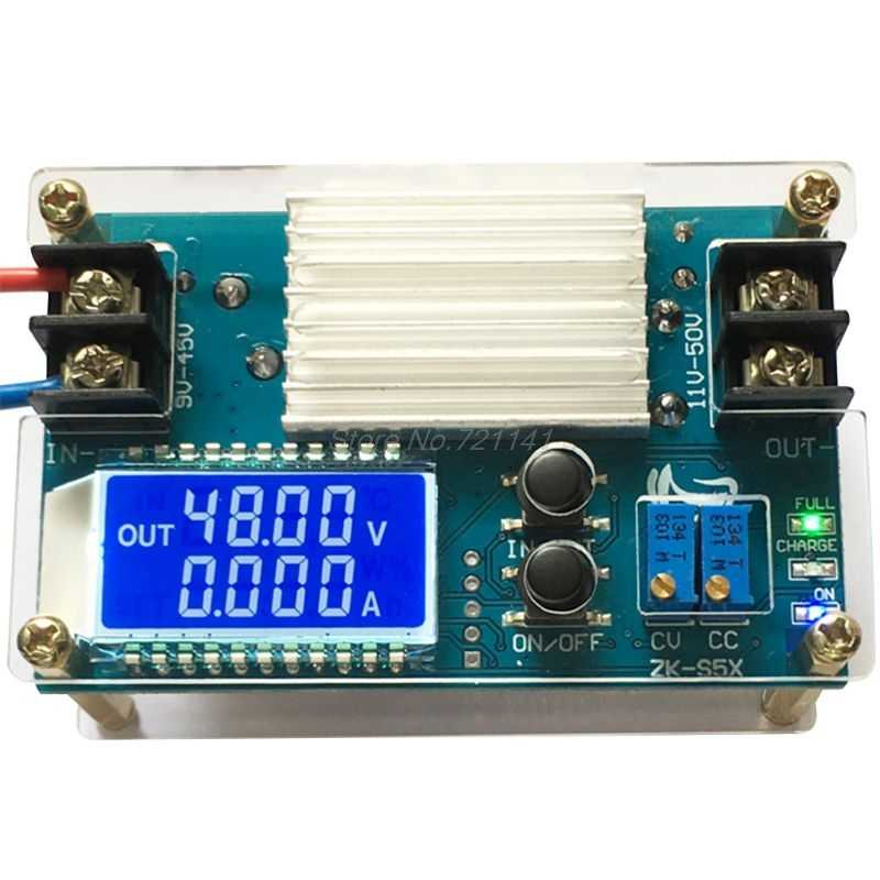 12A adjustable buck power supply modul LCD digital voltage and current display