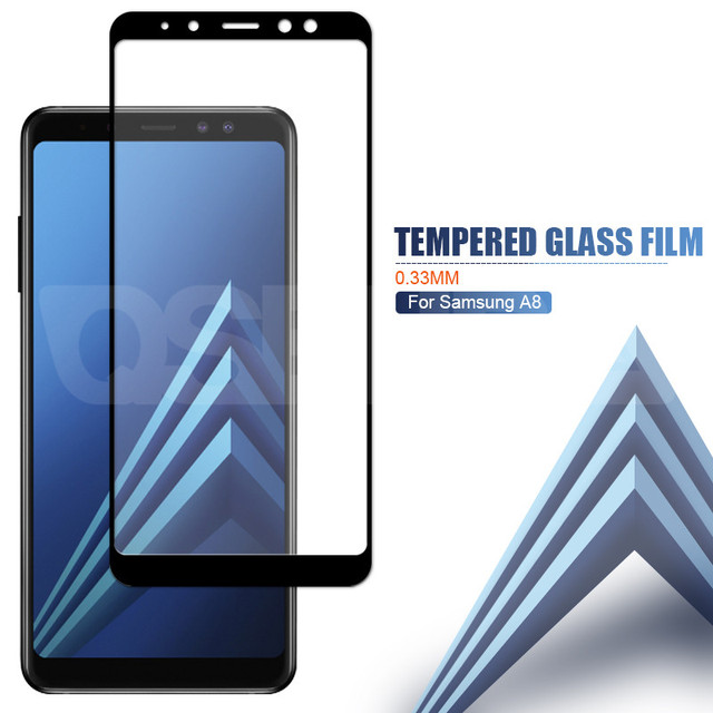 9D Protective Glass On the For Samsung Galaxy A5 A7 A9 J2 J8 2018 A6 A8 J4 J6 Plus 2018 Tempered Glass Screen Protector Film 3
