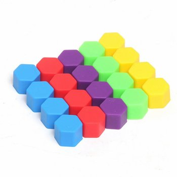 20pcs/bag 19mm Wheel Nut Covers Car Bolt Caps Wheel Nuts Silicone Covers Practical Hub Screw Cap Protector image