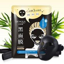 BIOAQUA Black Mask Bamboo Charcoal Nose Blackhead Remover Head Acne Treatments Korea Facial Face Skin Care Cleaner