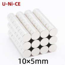 20pieces 10mX5mm strong  rare earth magnet 10X5 neodymium N35 Mini small round magnets 10*5mm