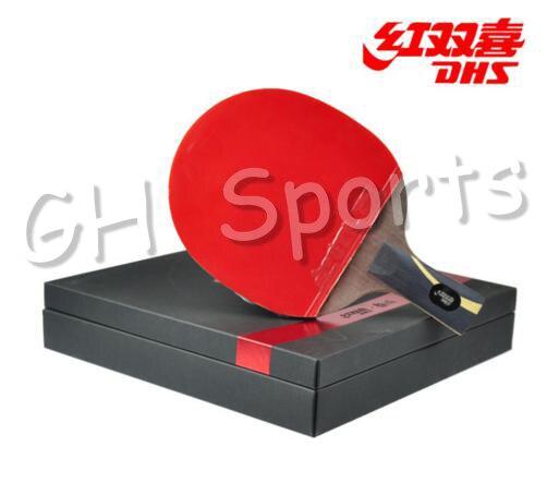 DHS Hurricane King (WANG Liqin) Gift Set Table Tennis Racket (Hurricane 3 Rubber + Balls + Bag Case) Ping Pong Bat