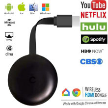Wifi sem fio display dongle tv vara completa 1080p chromecast miracast dlna tv elenco exibição ios/android chrome google casa