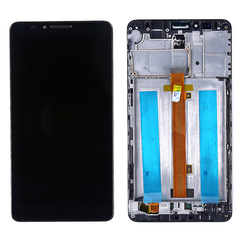 For Huawei Ascend Mate 7 Mate7 M7 MT7-L09 MT7-CL00 LCD Display Touch Screen Panel With Frame Assembly