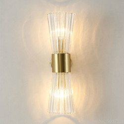 Post-Modern Crystal Wall Lamp Light Luxury American Hotel Bedroom Bedsidelights Living Room Corridor Staircase Wall Hanging Lamp