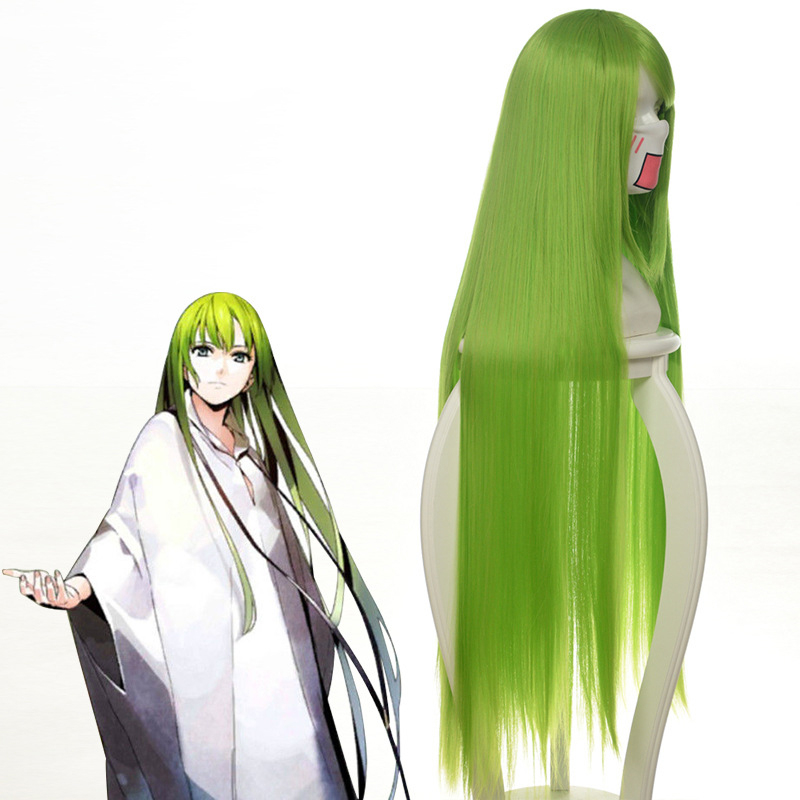 "Image 2 - Code Geass C.c Cc Empress Cosplay Wig 100cm 39"" Green Long Straightheat resistant Fiber Hair Peruca Anime Costume WigsAnime Costumes   -"