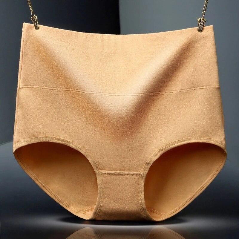 Women Cotton Panties Sexy Seamless Underwear Briefs High Waist Women's Tights Panties Female Intimates Large Size 2XL