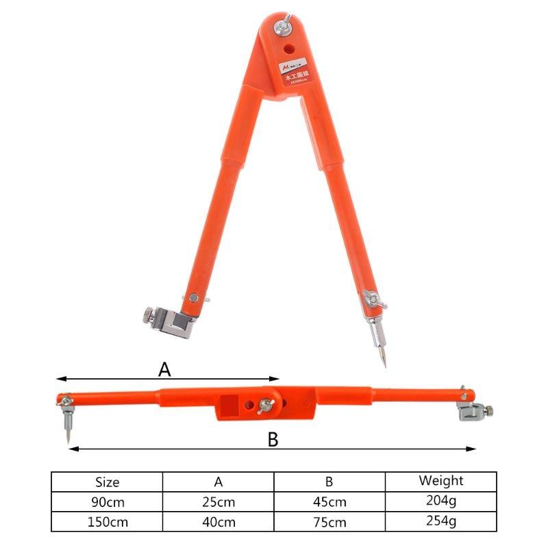 Carpenter Precision Pencil Compasses Large Diameter Adjustable Dividers Edge Marking Scribing Compass S25 19 dropship|Hand Tool Sets| |  - title=