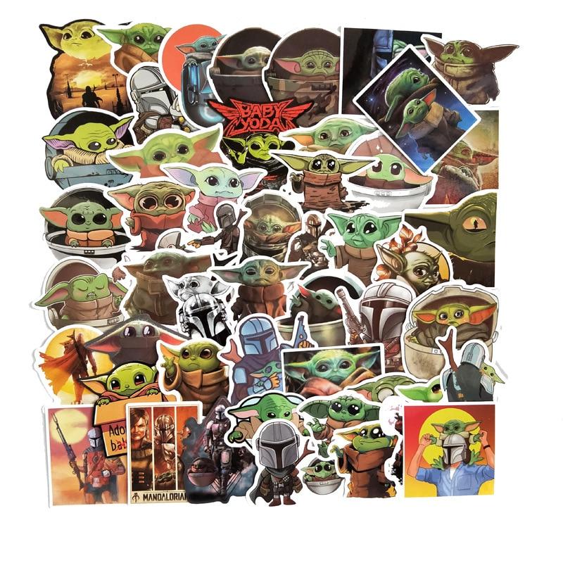 100 Pcs Yoda Baby Sticker For Laptop 2020 Suitcase Phone Car Bike Motorcycle Cool JDM Kids Graffiti Sticker Bomb Decals