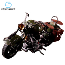 Strongwell Vintage Retro Motorcycle Model PropsMetal Craft Ornaments Bar  Metal Bubble Handicraft Furnishing Articles Decor Gift