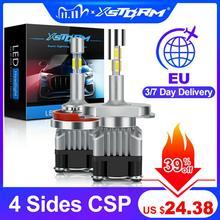 4ด้าน18000LM H7 Led Canbus H1 H3 H4 H8 H11 9005 HB3 9006 HB4หลอดไฟLed 6000K 12Vไฟรถหมอกโคมไฟ