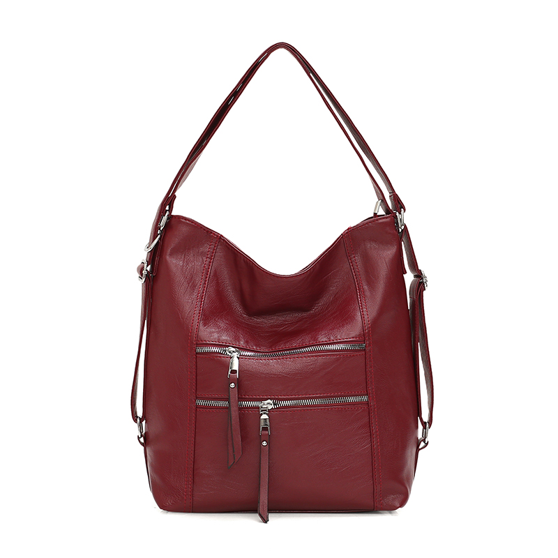 Luxury Brand Women Bags Designe Handbags Sheepskin Leather Ladies Tote Bags Female Big Shoulder Bags For Women Girls Bolsa Red