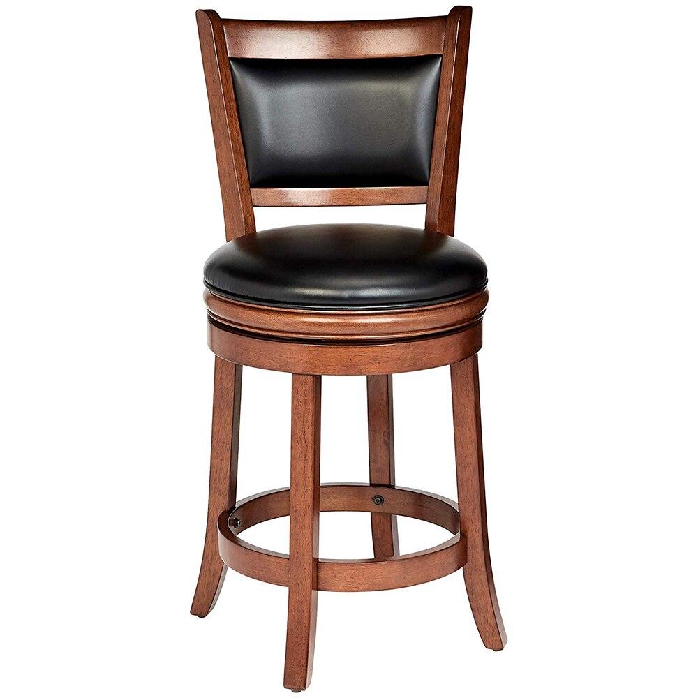 1pcs Bar Seat Pub PU Leather Swivel Kitchen Stools ...